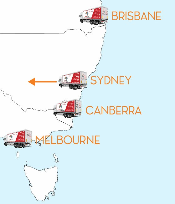 Eastern Australia Map