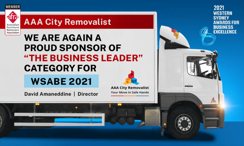 AAA City Removalist Sponsors the â??Business Leaderâ?? WSABE Award 2021